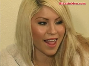 Bisexual latino fucks a hot blonde Tranny