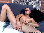Jerking off my cock with a dildo in my ass