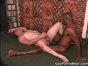 Hairy black stud have extreme anal fuck