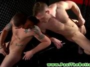 Athletic bottom jerks off and teases jock