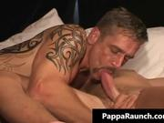 Nasty gay dude gets a huge dildo up this