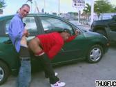 Ebony dude gets nailed by white jock