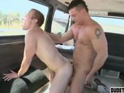 Guy gets cock in ass