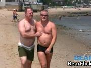 Buff gay bear men get together