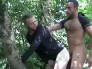 Outdoor gay ass fuck cumshot
