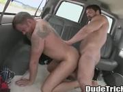 Straight first time gay anal in vehicle