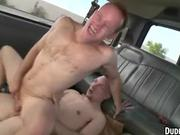 A pair of buff amateur studs are having anal