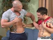 Tattooed gays Rod and Santos have wild sex
