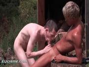 Outdoor gay sex with Joe Bondi