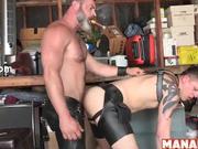 MANALIZED Daddy Raw Fucks Sub In Leather