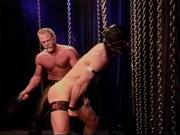 CBT Bodybuilder whipped and paddled