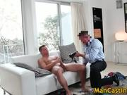 Pretty face hunk Tommy blows hard boner