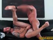 Nasty tattooed guy Johnny gets fucked