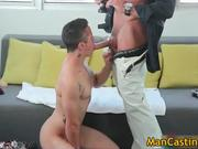 Young cute guy Tyler blows hard gay tube