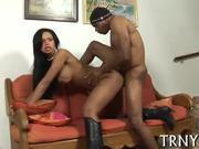 y-ung tranny enjoys a cock