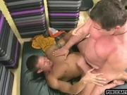 Two hot guys fucking in public