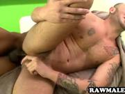 Hunk fucked by an ebony stud