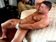 Muscle Hunk Masturbating