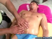 Straight latin guy gets a massage
