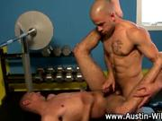 Pornstar Austin Wilde gay ass fucking