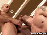 Pornstar Austin Wilde gay blowjob