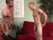 Str8 Brenn Wyson's first gay4pay scene.