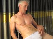Hot Daddy Jerking Cock