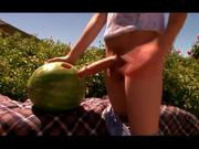 CUTE GAY tw-nks fuck watermelon and bareback