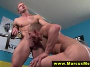 Straight muscled dude gets virgin ass banged