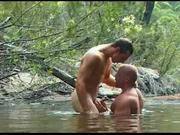 Two hot guys fuck in nature FTW