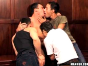 Hot Latino orgy... Everyone gets a hard dick