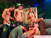 Group of horny drunk guys