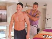 Blowjob from gay masseur