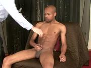 Str8 black dude has big cock, tight body