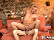 Delightful blowjob for gay stud